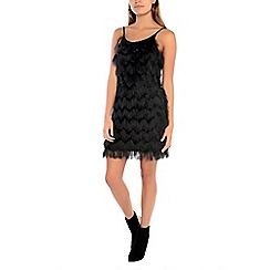 Alice & You - Black fringe strappy dress