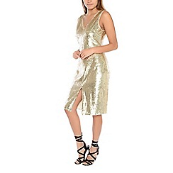 Alice & You - Gold sequin midi dress