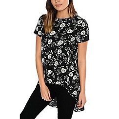 Alice & You - Black split back dip hem blouse