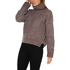 Alice & You - Lilac knitted roll neck jumper