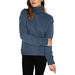 Alice & You - Blue knitted roll neck jumper