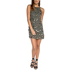 Alice & You - Dark grey embellished shift dress