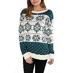 Alice & You - Cream snowflake christmas jumper