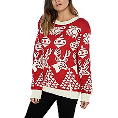 Alice & You - Red festive knitted jumper
