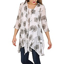 Izabel London - Beige floral tunic dress