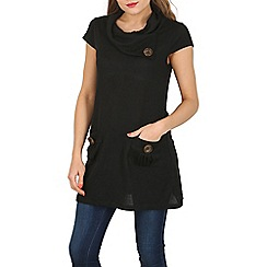 Izabel London - Black rolled neck tunic top