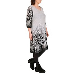 Samya - Grey a line knit dress