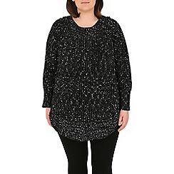Samya - Black round hem knitwear pullover