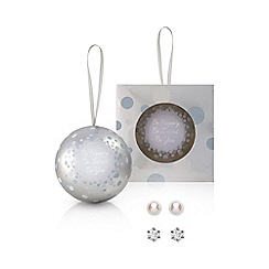 Buckley London - Silver stud earring duo christmas bauble