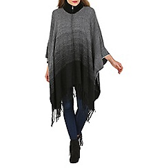 Apricot - Grey gradient blanket cape