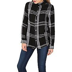 Apricot - Black monochrome check shirt