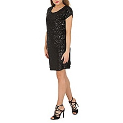 Apricot - Black sequin party dress