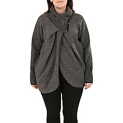 Samya - Grey chevron knit contrast cardigan