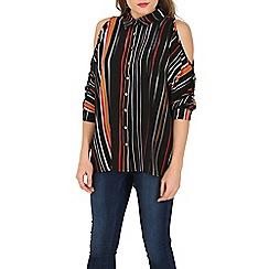 Stella Morgan - Multicoloured stripe cold shoulder shirt