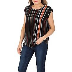 Stella Morgan - Black stripe boxy top
