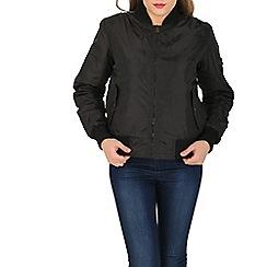 Stella Morgan - Black long sleeve zip bomber jacket