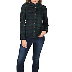 Apricot - Green checked jersey shirt