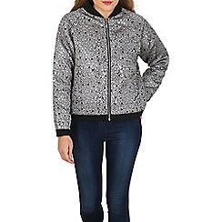 Tenki - Silver patterned shiny bomber jacket