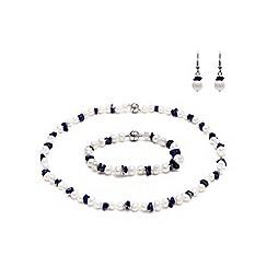 Kyoto Pearl - Blue freshwater pearls set