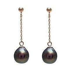 Kyoto Pearl - Black peacock freshwater pearls earrings