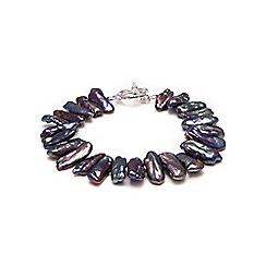 Kyoto Pearl - Black Biwa pearls bracelet