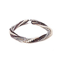 Kyoto Pearl - Grey twisted strands pearl necklace