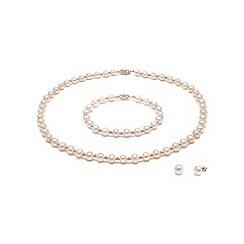 Kyoto Pearl - White freshwater pearl set