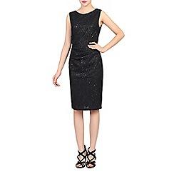 Jolie Moi - Black lace bonded sequin dress