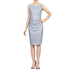Jolie Moi - Grey lace bonded sequin dress