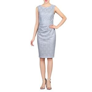 Jolie Moi Grey Lace Bonded Sequin Dress