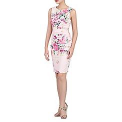 Jolie Moi - Light pink floral print ruched shift dress