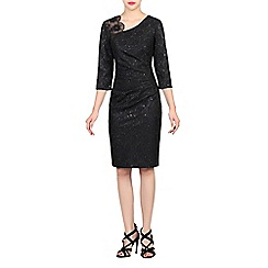 Jolie Moi - Black lace bonded contrast dress