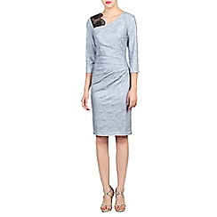Jolie Moi - Grey lace bonded contrast dress