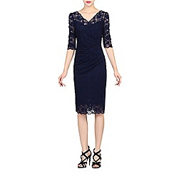 Jolie Moi - Navy scalloped lace dress