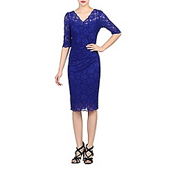 Jolie Moi - Royal scalloped lace dress