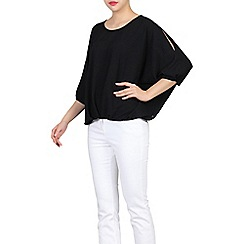 Jolie Moi - Black ruched batwing top