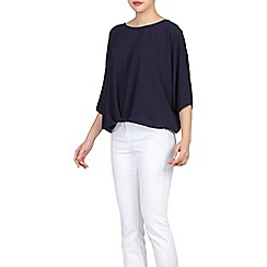Jolie Moi - Navy ruched batwing top