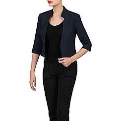 Jolie Moi - Navy textured open front blazer