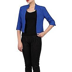 Jolie Moi - Royal textured open front blazer