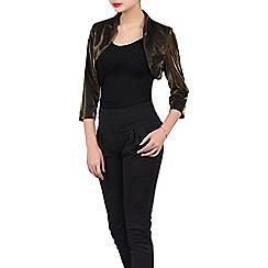 Jolie Moi - Black high collar bolero jacket