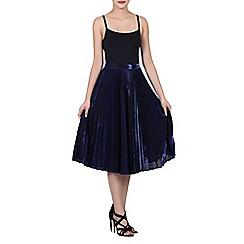 Jolie Moi - Navy pleated a-line skirt