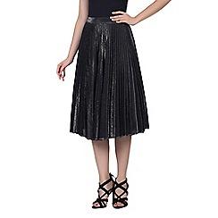 Jolie Moi - Black pleated a-line skirt