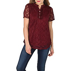 Solo - Wine lace pleated top