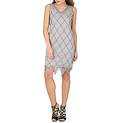 Solo - Grey gina diamond dress