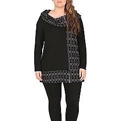 Samya - Black oversize collar top
