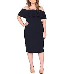 Samya - Blue bardot style bodycon dress
