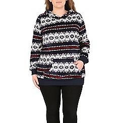 Samya - Blue long sleeve multi coloured hoodie