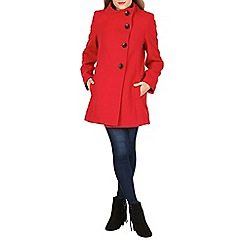 David Barry - Red high neck jacket