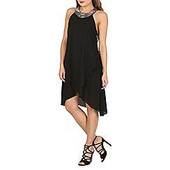 Izabel London - Black embellished halter neck dress