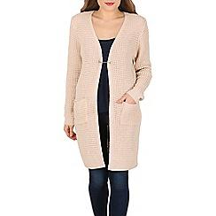 Izabel London - Beige long sleeve knitwear cardigan